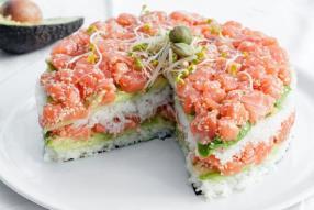 Sushi cake! Seriously?