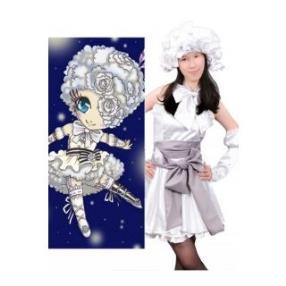Kuroshitsuji Circus Doll White Lovely Cosplay Costume