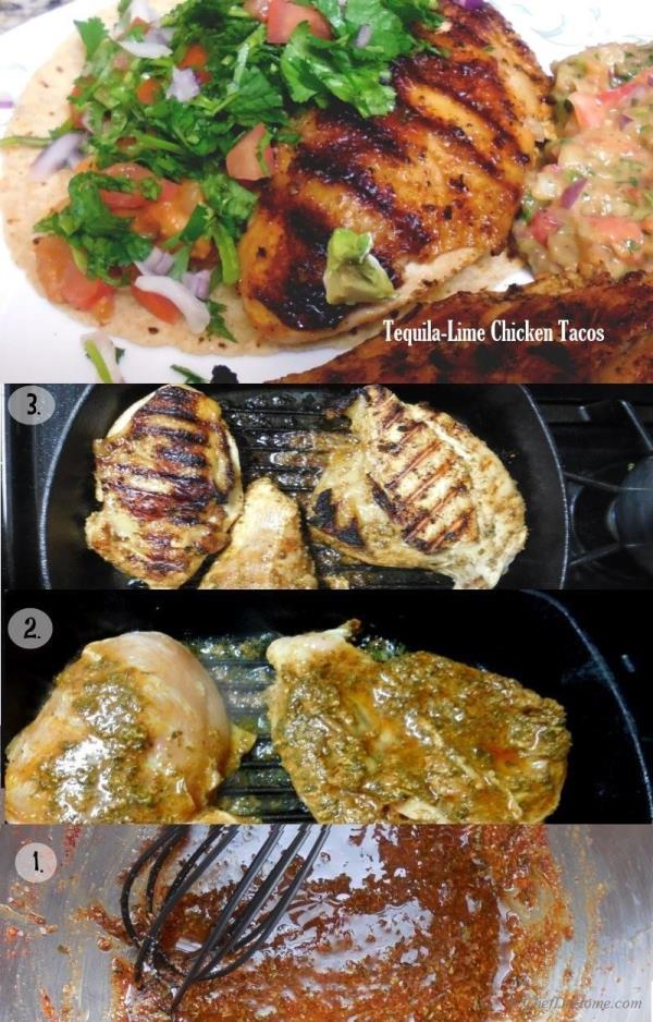 Grilled Tequila-Lime Chicken Tacos, restaurant  style at home!