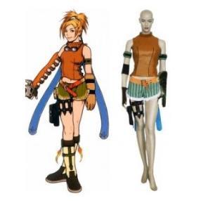 Final Fantasy X Rikku Cosplay Costume--CosplayDeal.com