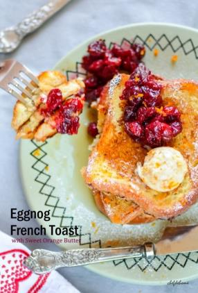 Eggnog French Toast with Orange Butter Recipe - ChefDeHome.com