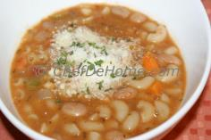 Pasta and Beans Soup - one pot complete meal, wholesome and healthy.