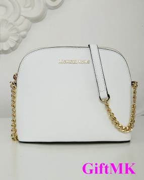 New Style 2016 Summer White Michael Kors Handbags Shell Chain Lady Bag
