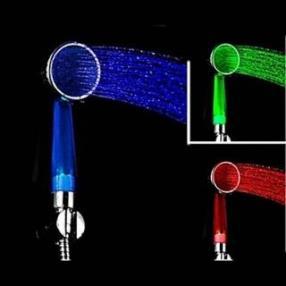 Led Hand Held Bathroom Shower Head Filter Hand Shower Faucet--Faucetsdeal.com