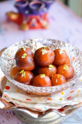 Easy Indian Gulab Jamun with Milk Powder Recipe - ChefDeHome.com