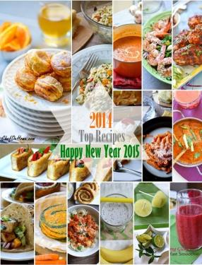 Top Recipes of Year 2014 - ChefDeHome.com