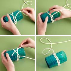 Making knotted bracelets at home