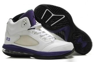 Cheap Nike Air Jordan 5.0 White Purple Mens Shoes