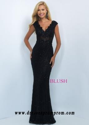 2016 Blush Prom 11019 Stunning Sequined Lace Evening Gown For Women