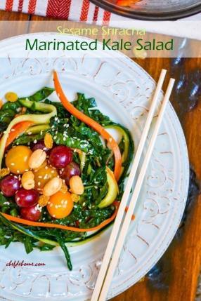 Sesame Sriracha Marinated Kale (Egg Nests) Salad Recipe - ChefDeHome.com