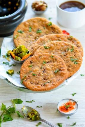 Sprouts Stuffed Masala Poori for karwa Chauth - ChefDeHome.com
