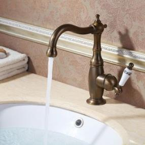 Antique Brass finish Bathroom Sink Faucet--faucetsdeal.com