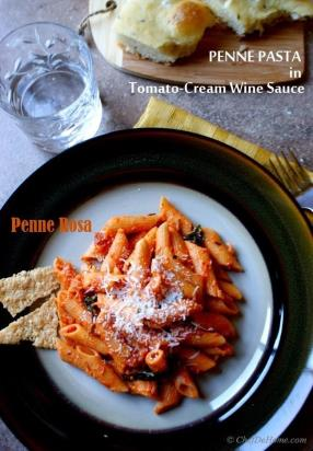 #Meatless   #Monday with #Pasta #Penne Rosa in 15 minutes!!! Penne Pasta in Tomato-Cream Wine Sauce.