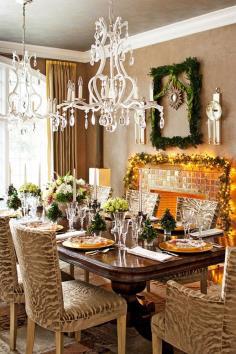Christmas table decoration idea