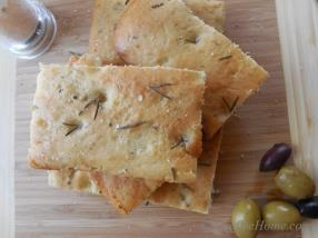 Focaccia - Olive oil and Rosemary perfumed lite and crusty flat bread
