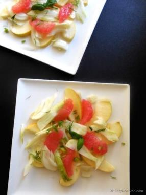 Fennel and Apple Salad with Grapefruit Vinaigrette Recipe - ChefDeHome.com