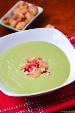 Chilled Avocado and Roasted Corn Soup #vegan #glutenfree #healthy #yummy