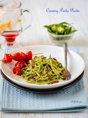 Creamy Pesto Pasta Recipe -ChefDeHome.com