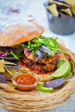 Spicy Southwest Chipotle Albacore Tuna Burgers Recipe - ChefDeHome.com