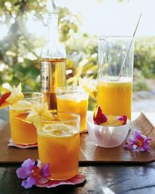 Pineapple Mango Rum cocktail