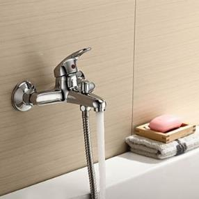Chrome Finish - Solid Brass Contemporary Bathroom Tub Faucet--Faucetsmall.com