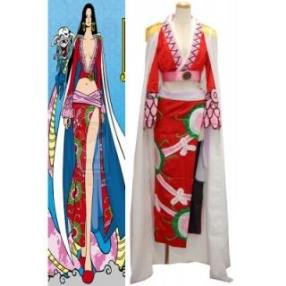 One Piece Pirate Empress Boa Hancock Satin Cosplay Costume