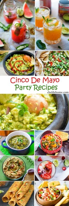 Easy Mexican Fiesta - Cinco De Mayo Party Recipes Meals - ChefDeHome.com