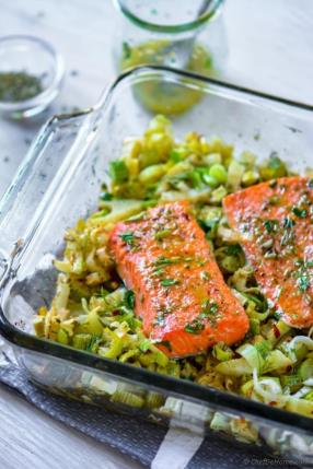 Baked Lemon Salmon with Fennel Recipe -ChefDeHome.com