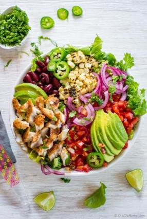 Blackened Fish Taco Salad Recipe - ChefDeHome.com