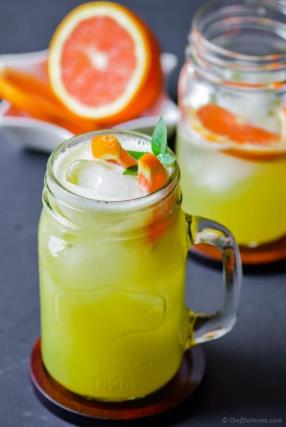 Honeydew Melon and Orange Juice Recipe - ChefDeHome.com