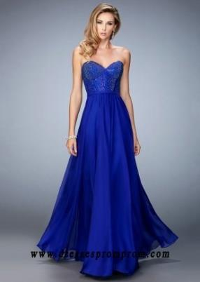 Corset Indigo Sparkly Jeweled Sweetheart Prom Dresses