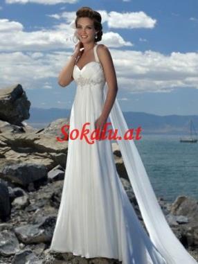 Chiffon Strand Brautkleider