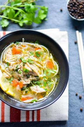 Chicken Noodle Soup in Pressure Cooker Recipe - ChefDeHome.com
