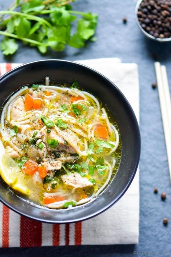 Chicken Noodle Soup in Pressure Cooker Recipe - ChefDeHome.com