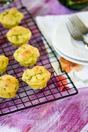 Vegan Avocado-Scallion Bake Sale Muffins  Recipe - ChefDeHome.com
