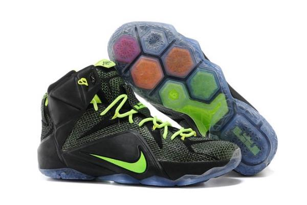 LeBron 12 Nike Mens Training Footwear in Black Volt Colorway 718