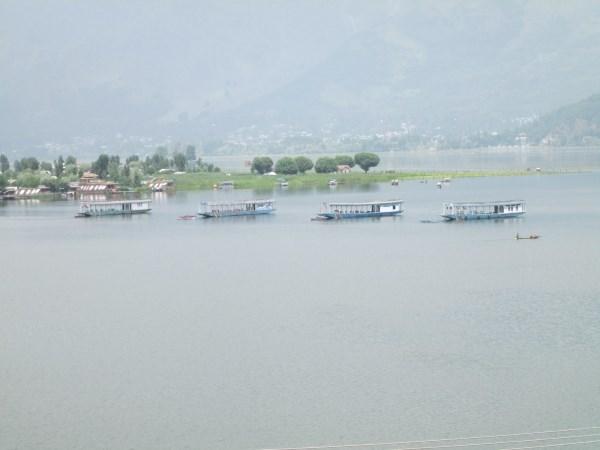 Beautiful view of lake in Srinagar, Jammu and Kashmir