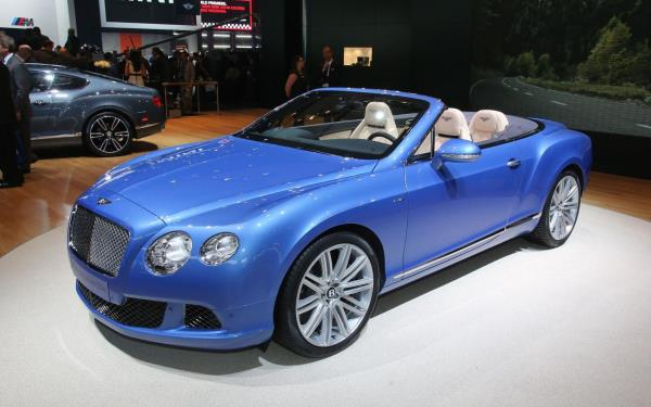 Wallpaper version of Bentley Continental GT speed convertible 2013