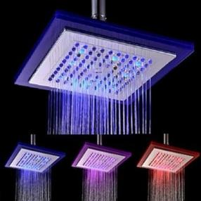 Contemporary Electroplate 7-color LED Shower Head--Faucetsmall.com