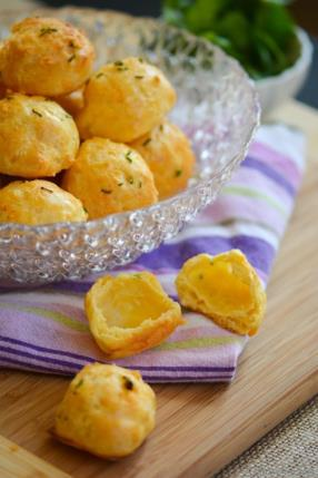 Lite and Airy Cheese and Citrus-Chive Gougeres Recipe - ChefDeHome.com