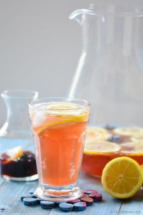 Sparkling Hibiscus Lemonade Recipe - ChefDeHome.com