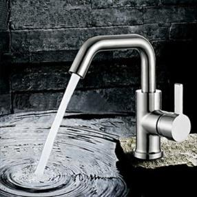 Unique Centerset Contemporary Rotatable Stainless Steel Bathroom Sink Faucet--Faucetsmall.com