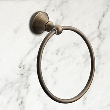 Antique Brass Wall Mounted Towel Ring )--Faucetsmall.com