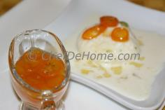 A piece of Indian Cheese Cake with Kumquat Syrup, what a pleasant surprise... love to try it.