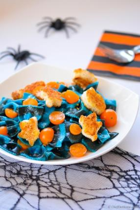 Spooky Lemon Butter Noodles with Witch Croutons Recipe - ChefDeHome.com