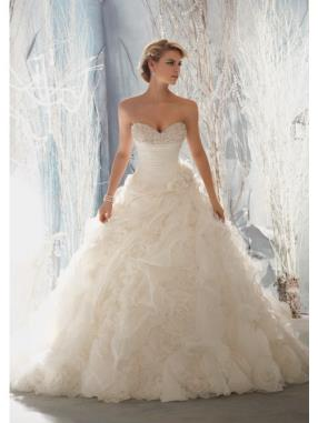 New Ruffle Skirt Wedding Dress For Brides