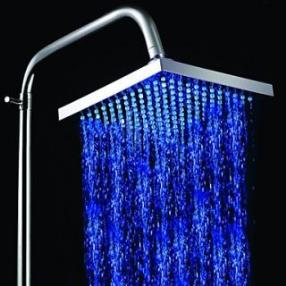 8 Inch A Grade ABS Chrome Finish LED Rain Shower head--Faucetsdeal.com