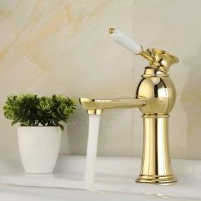 High Quality Contemporary Brass Hot And Cold Bathroom Sink Faucet