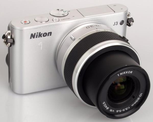 Nikon 1 J3 - Camera features a 14.2 megapixel sensor.