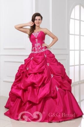 Strapless Taffeta Ball Gown Sleeveless Zipper